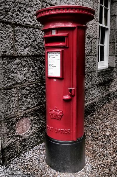 The Royal Postbox, Balmoral<br /> Balmoral Castle