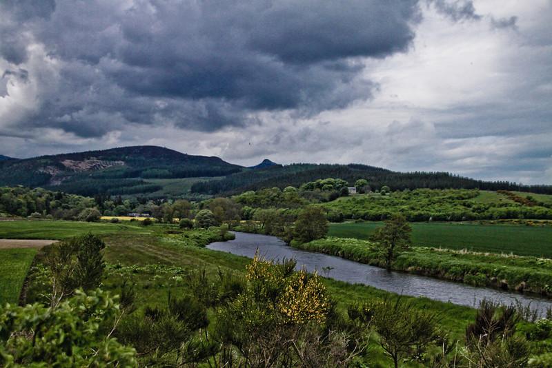 Bennachie<br /> Bennachie (MitherTap) and River Don from Pitfichie, near Monymusk
