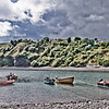Catterline Harbour<br /> Catterline is a coastal village on the North Sea in Aberdeenshire, Scotland. It is situated about six kilometers south of Stonehaven;