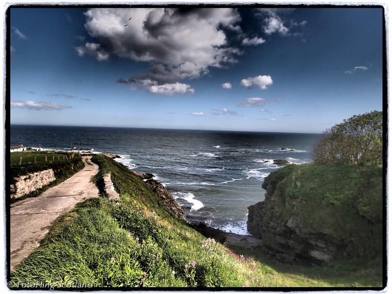 Road to shore<br /> Portlethen, Aberdeenshire