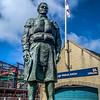 Fraserburgh Lifeboat Memorial Statue.