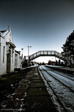 Down the track - Insch Station