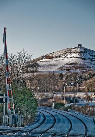 Dunnideer Castle from Insch Station
