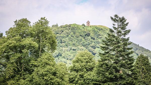 The monument on Dun na Cuaiche - a prominent landmark above Inveraray