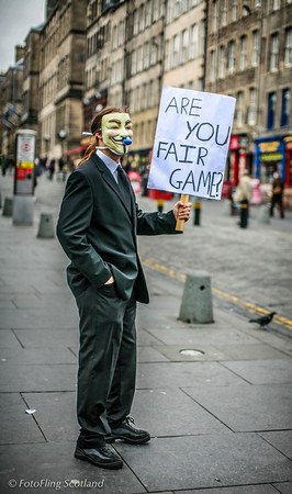 Are you fair game? Protest against Scientology in Edinburgh