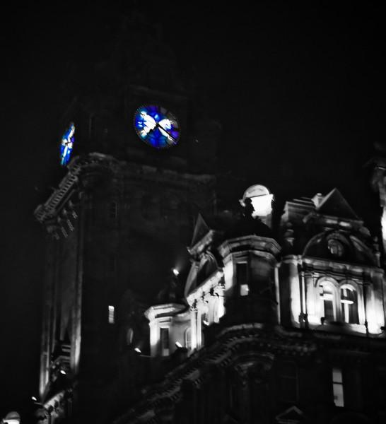 Balmoral Hotel & Saltire Clock