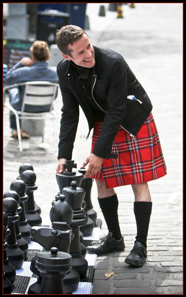 Kilted Chess Player