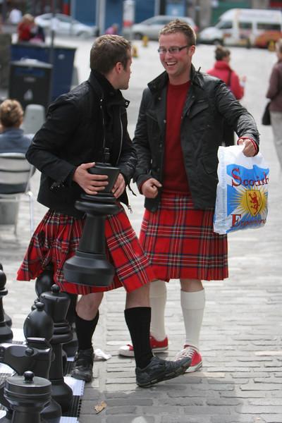 Guys enjoy the Scottish Experience