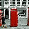 Three Phone Boxes and a Kiltie