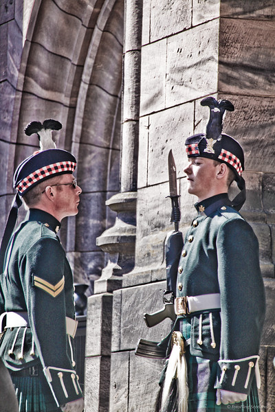 Guard Inspection at Edinburgh Castle