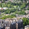 Inverleith Park from Edinburgh Castle