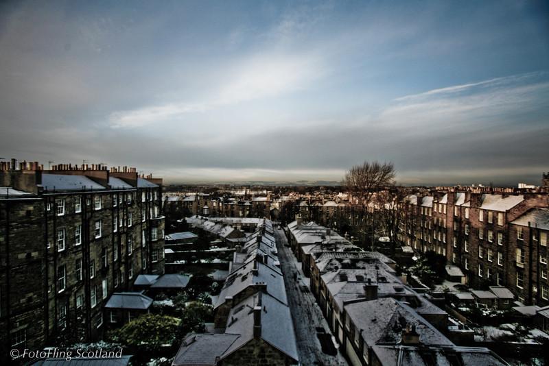 Edinburgh Winter Scene<br /> New Town of Edinburgh looking towards Fife