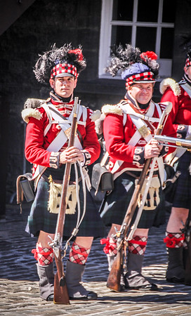 Re-enactment Soldiers - Edinburgh Castle
