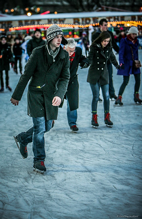 Skating in Edinburgh