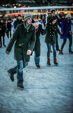 Skating in Edinburgh