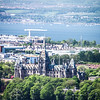 Fettes College and Firth of Forth from Edinburgh Castle
