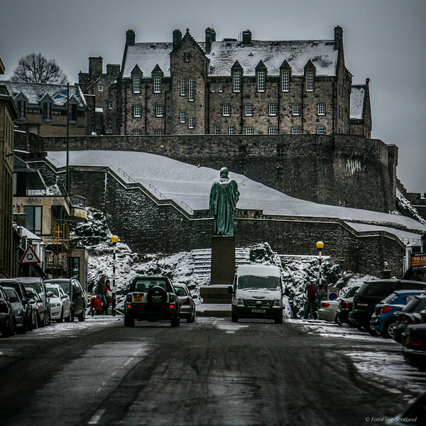 Winter in Edinburgh<br /> January in Castle Street, Edinburgh and Edinburgh Castle