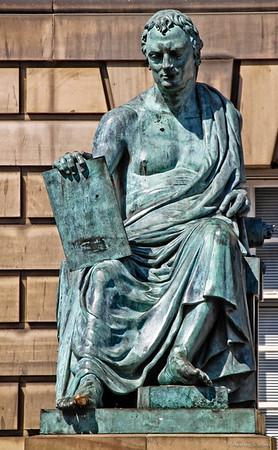 Royal Mile:  David Hume Statue