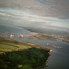 Forth Bridges from the air