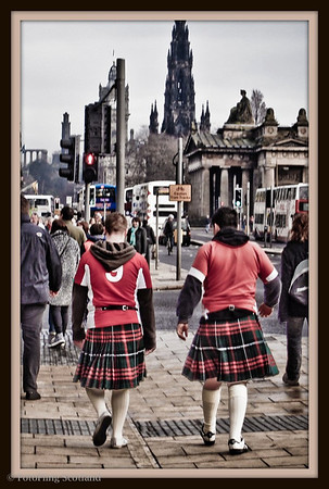Kilted Welsh Rugby Fans