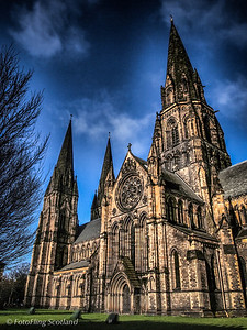 St Mary's Cathedral St Mary's Cathedral or the Cathedral Church of Saint Mary the Virgin is a cathedral of the Scottish Episcopal Church in Edinburgh, Scotland. It was built in the late 19th century in the West End of Edinburgh's New Town. The cathedral is the see of the Bishop of Edinburgh, one of seven bishops within the Episcopal Church, which is part of the Anglican Communion. Designed in a Gothic style by Sir George Gilbert Scott, the cathedral is now protected as a category A listed building.