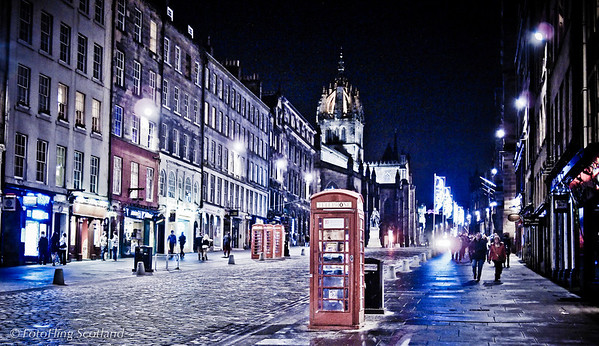 Royal Mile in December