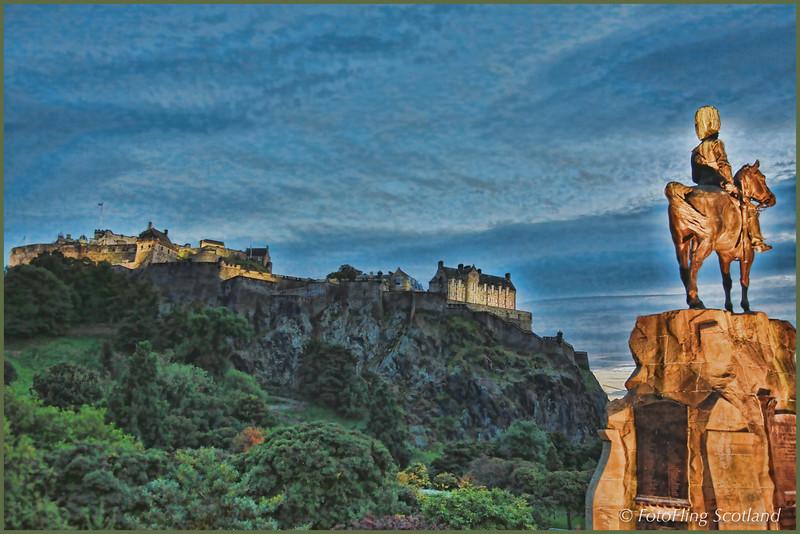 Monument to the Royal Scots Greys in Princes Street Gardens, Edinburgh by William Birnie Rhind