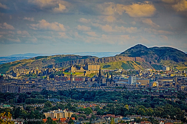 Edinburgh Castle from Corstorphine Hill