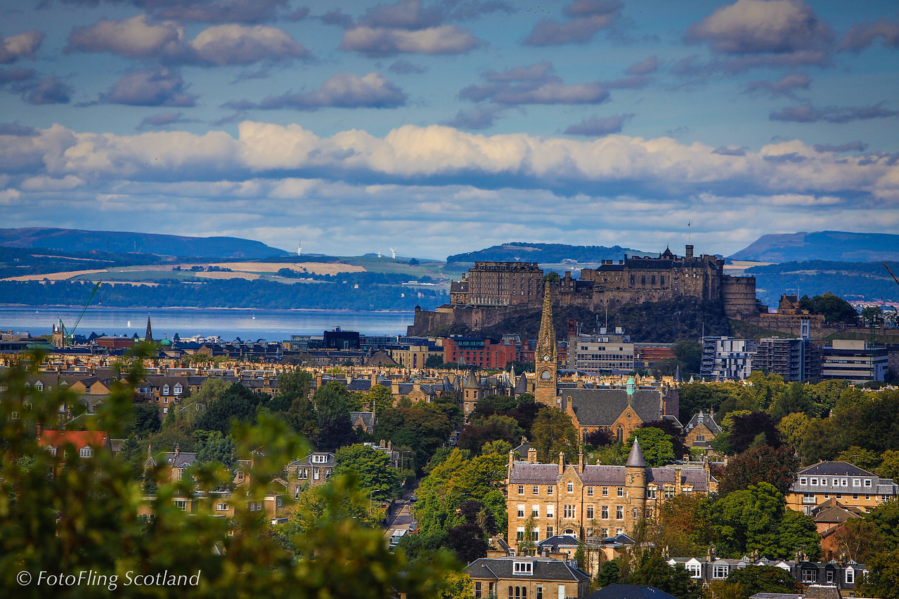 Edinburgh Castle from Royal Observatory, Blackford Hill, Edinburgh