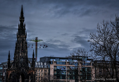 Scott Monument and the High Flyer