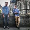 Tourists in Edinburgh