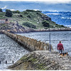 Man and dog at Cramond