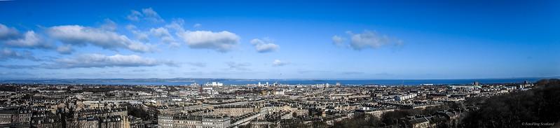 Edinburgh, Firth of Forth & Fife from Calton Hill