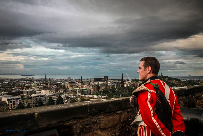 Bandsman Views Firth of Forth