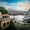 View of the Esplande from Edinburgh Castle - pre -show Edinburgh Military Tattoo