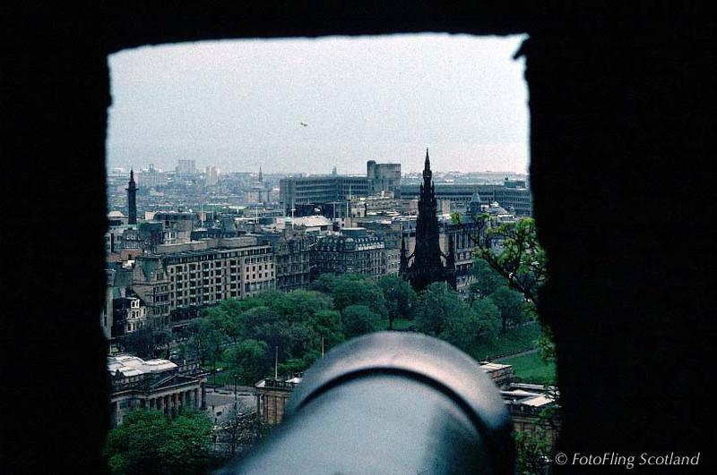 Princes Street from Edinburgh Castle