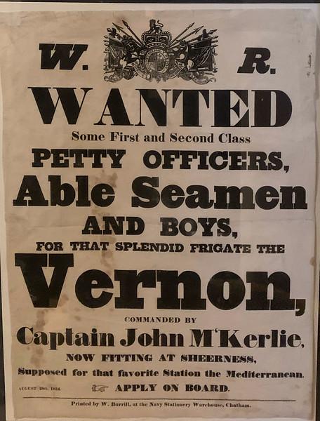 Navy Recruitment 1834