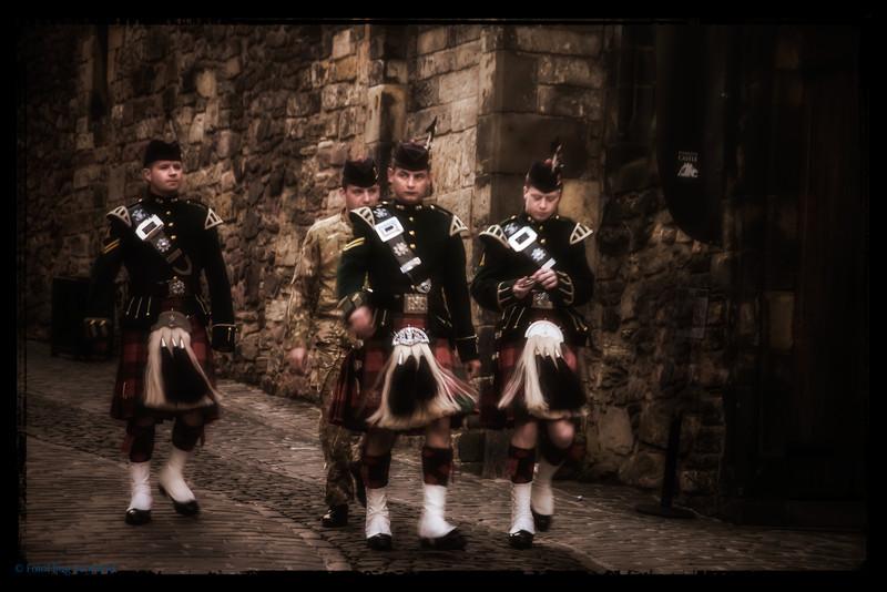 Kilties at Edinburgh Castle