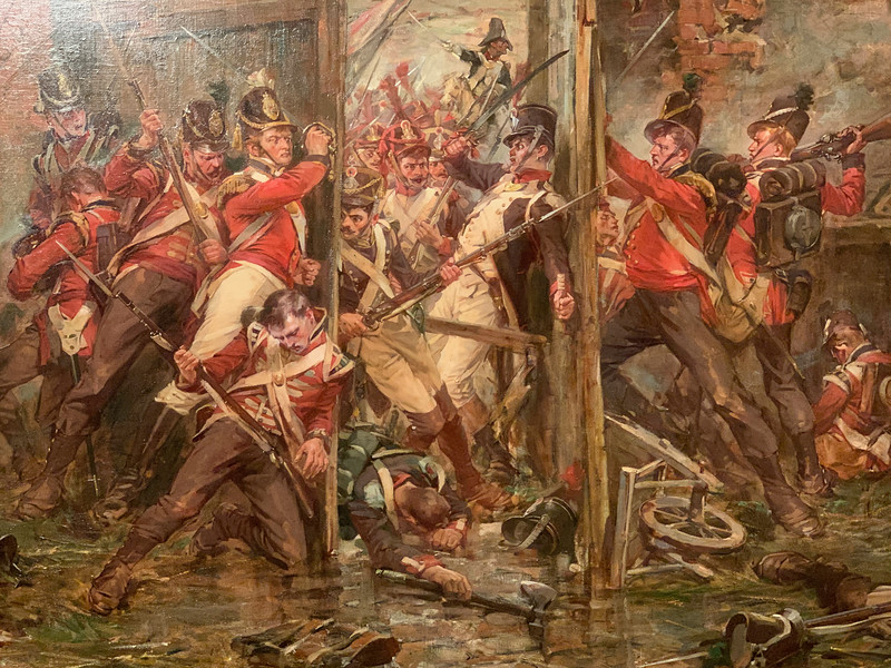 """""""Closing the Gates at Hougoumont""""   by Robert Gibb"""