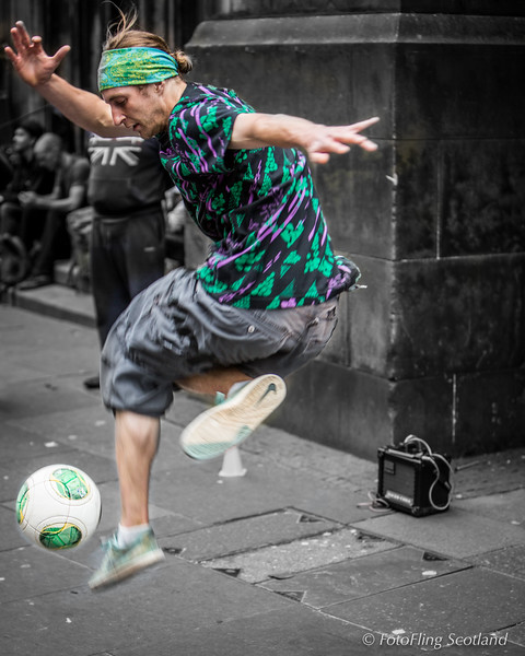 Royal Mile Football Action
