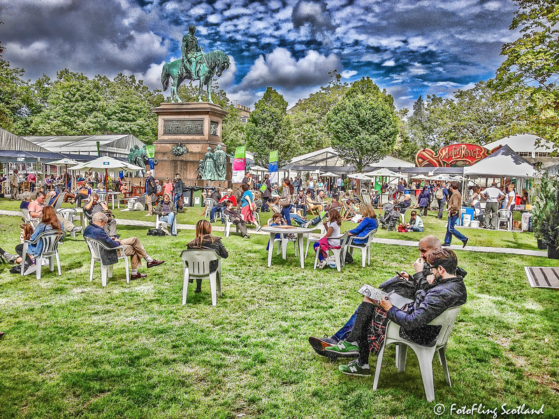 Sunday Afternoon at Edinburgh International Book Festival