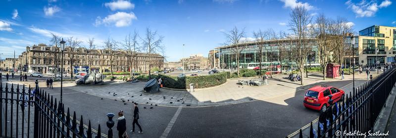 Panorama of Picardy Place, Edinburgh.