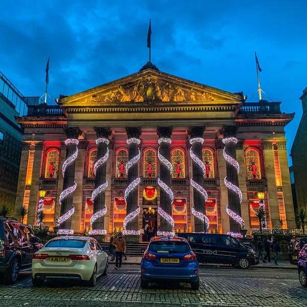 Festive Lighting at The Dome, Edinburgh