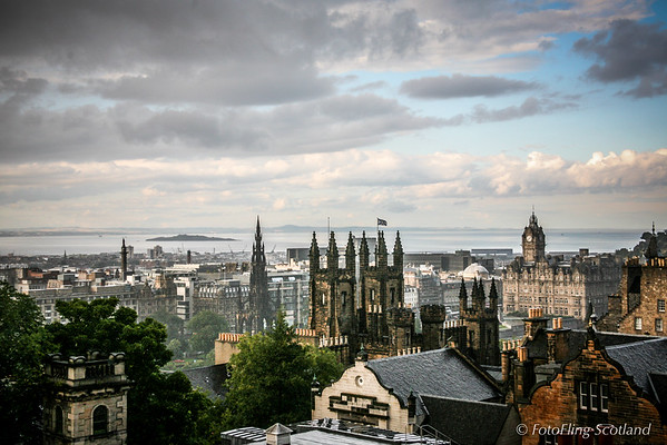 Rooftops and Firth of Forth