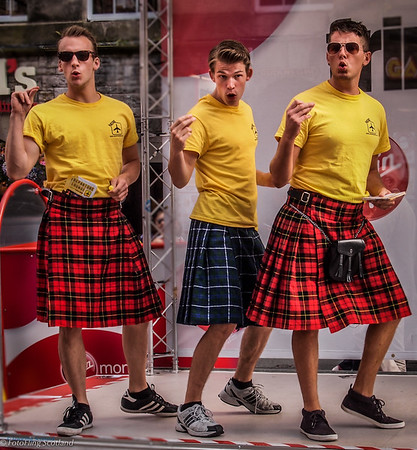 Kilted Performers from Fringe Show 'Departure Lounge'
