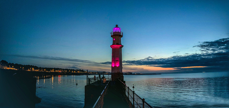 Newhaven Lighthouse at Dusk