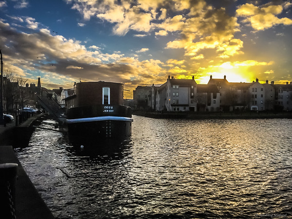 Sunset over Leith