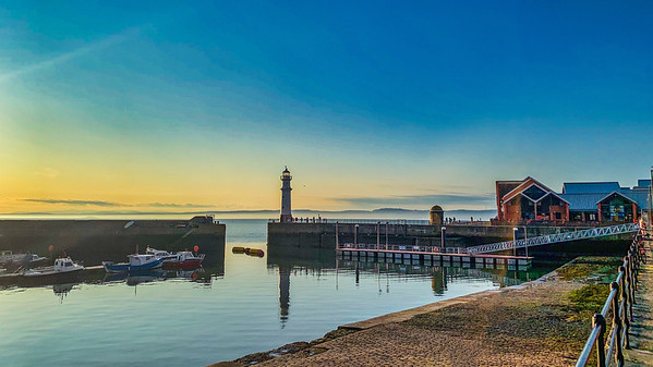 Newhaven Harbour at Dusk