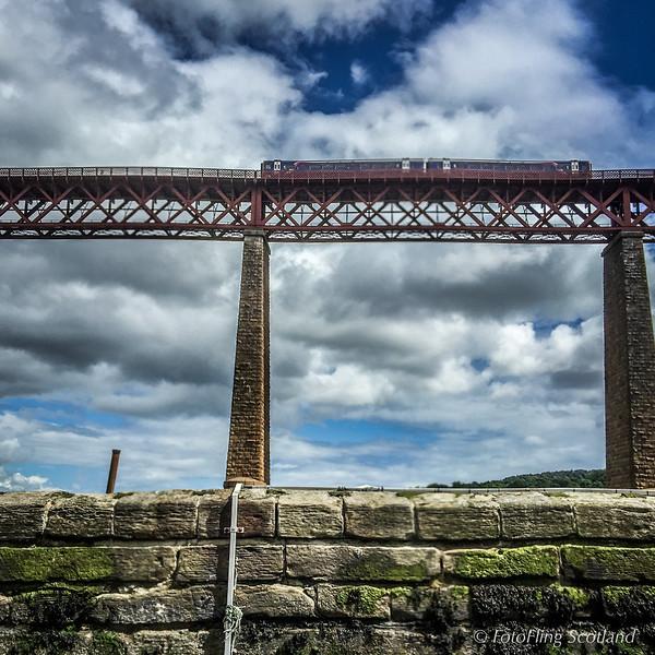 Train enters Forth Bridge