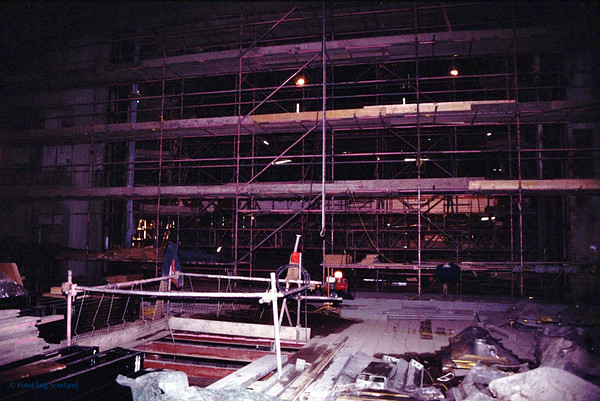 Festival Theatre, Edinburgh during construction 1993
